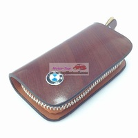Brown Cattle Cow Leather Cover Holder Remote Key Case Bag For B M  Auto Car Motor M3 M5 E90 E64 Z3 Z4 X6 Key Chain High Quality