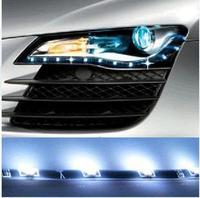 Free Shipping Automotive LED flexible strip LED tears lights side-emitting eyebrow lights,30cm 50 teeth lamp beads,12V DC