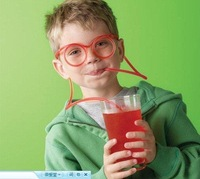 Free shipping ! wholesale Novelty items Amazing Silly Straw Drinking Glasses Eyeglass Frames Piped -Lucy store