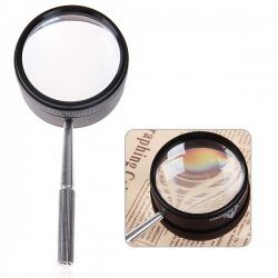 Professional High-grade 35X 50mm Magnifier with Steel Handle(China (Mainland))