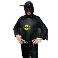 Free shipping,Halloween party costume Adult Batman clothing set,clothes+pants+hoods,wholesale/retail -Lucy store