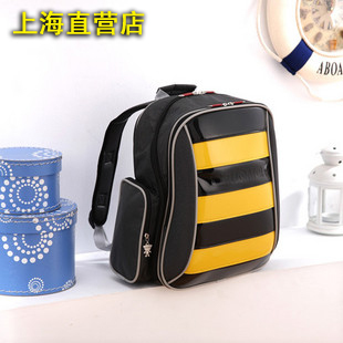 Unme school bag large double layer relief double-shoulder back primary school students burdens school bag child school bag