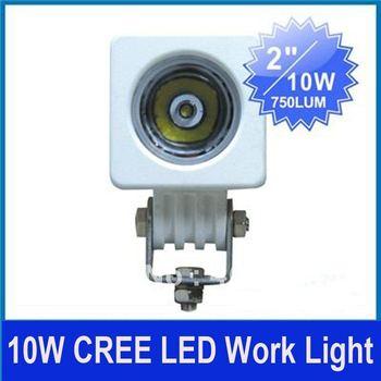 "2pcs 2"" 10W CREE LED Work Light High Power SUV ATV 4WD 4x4 UTE Car Spot/Flood Beam Truck 9-33V 800lm Waterproof Super Bright"
