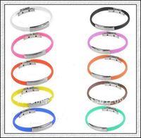 DHL 100pcs Free shipping Power Silicone Bracelet Energy Wristband ,balance bracelet band with opp bag