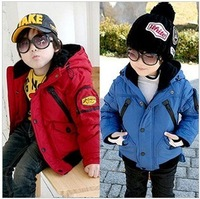 Children's clothing child outerwear cotton-padded jacket top wadded jacket thickening dovetail windproof free shipping