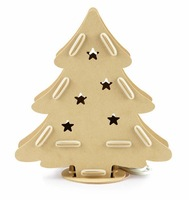 Aamazing gift, Fantastic decoration Sukoo christmas tree diy assembled lamp wooden art table lamp dimming