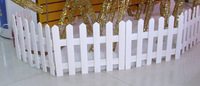 Christmas fence white wood fence 30cm fence 1.6 meters long decoration supplies