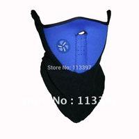 Blue Neoprene Winter Ski Mask for Snowboard Motorcycle Bike Soft w/ Velcro