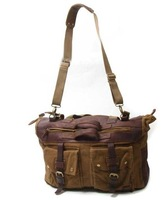 BE**FF man bag travel 561 men genuine leather with canvas computer bag
