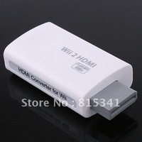 Free shipping HDMI converter for wii 3.5 mm Audio Converter For Wii2HDMI adapter NTSC 480i 480p PAL 576i