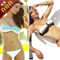 Fashion bikini swimwear female split big small push up t01