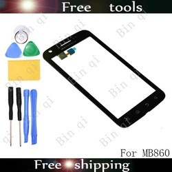 original !!! Touch Glass Screen Lens Digitizer Panel Replacement For Motorola MB860 Atrix 4G Free Shipping +Free Tools(China (Mainland))
