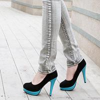 Осень и Мартин Мода Винтаж толстые высоких каблуках снег зимой ботинки тепловой короткие плюс размер