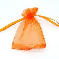 HOt Fashion 50pcs Orange Organza Wedding Favor Xmas Gift Bags Jewellery Pouch 7x9cm 120410