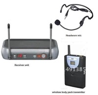 UHF wireless headset microphone system | wireless headworn presentation microphone