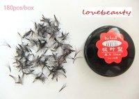 180pcs/box BAISIDA 5 boxes 0.10 C curl 8mm 10mm 12mm  false eyelashes eyelash extension Wholesale! Free shipping !