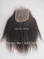 "kinky straight human hair closure malaysian virgin hair lace closure 10-20 inch 130% density size 4""x4"""