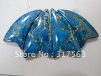 Wholesale 5 sets/lot Gem stone Pendant Blue Imperial Jasper Fashion Jewelry Pendants.Free shipping