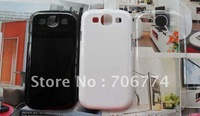 100pcs/lot Hot High quality Transparent Crystal Clear Plastic Hard Back case for I9300 SIII S3  Free Shipping