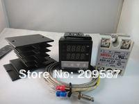 100-240VAC PID Temperature Controller + Max.40A SSR + Heat Sink + 2m K probe