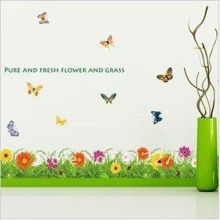 5pcs Free Shipping 50*70CM Popular Cartoon flower Wall Sticker Mural Home Decor Room Decor Kids 002001 (5)