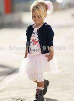 New arrivals 5 sets/lot fashion Toddler girls cardigans/sweater+t-shirt+tutu dress 3pcs set suits baby clothing+Free shipping