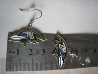 Free packaging shipping small personality new Baltimore ravens football earrings