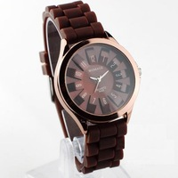 Mixed Order Fashion Sports Sunflower Student Lady Men Women Quartz Watch Silica Lover's Wristwatch Wholesale Free Ship S01080018
