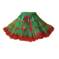 Christmas  girl's  pettiskirt,  green  &  red  santas  petticoat