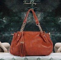 Winter new arrival genuine leather women's handbag chain women's handbag fashion tassel all-match women's handbag