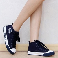 Autumn and winter high flat platform shoes casual shoes canvas shoes female shoes skateboarding shoes