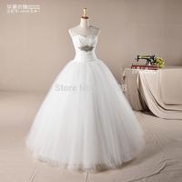 Custom-Made Plus size Wedding dress Brief Princess Puff  Wedding Dress 2014 ball gown wedding gown Actual Image Vestido de noiva