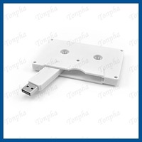 Free shipping  MOQ just 1pc  Cassette USB flash memory key  2gb/4gb/8gb/16gb/32gb