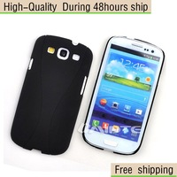 New Two Layer 2in1 Rubberized Plastic Cup Case Cover for Samsung Galaxy SIII S3 I9300 Free Shipping UPS DHL EMS HKPAM CPAM HW-9