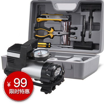 Car air pump car air pump car tyre pump up pump car tire tool box