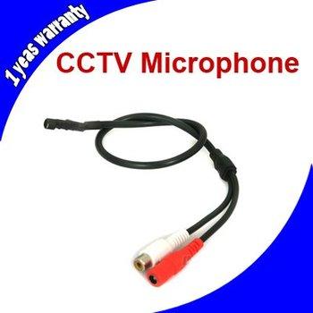 Mini Audio CCTV Microphone Mic RCA Output for CCTV Security System Camera DVR