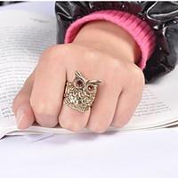 Fashion watch band owl ring vintage ring 7921