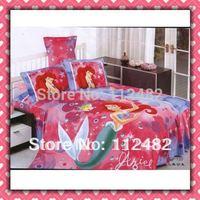 3pcs Bedding Set Cartoon Mermaid princess Cotton children Kid Bedding Free Shipping