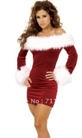 Free Shipping Wholesale Plus Size Slimming Christmas Santa Costume,Christmas Lingerie For Adult Women(Size M, XL)  LB17077