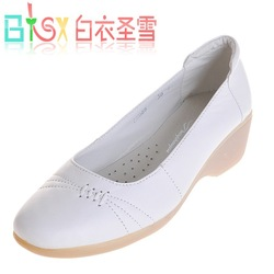 For hospital women shoes,cheap shoes on line,White soft leather nurse shoes(China (Mainland))