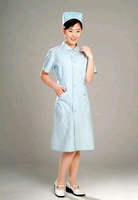 doctor nurse Blue short-sleeve summer nurse clothing beauty services work wear pink white blue