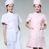 doctor nurse Nurse clothing white coat summer work wear women white coat summer