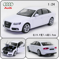 Welly 1:24 AUDI A4 B8 alloy car model White/Black