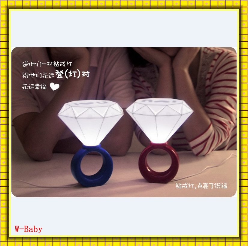 EMS shipping+36pcs,NEW Arrival diamond ring LIGHT UP night light bedroom lamp romantic table lamp,christmas gift for lover(China (Mainland))