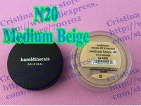 24PCS Bare Minerals original Foundation Medium Beige N20 Spf15 Sunscreen 8g/0.28oz Wholesale Bareminerals Free shipping