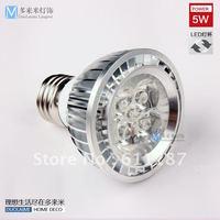 Free Shipping,10 pcs/lot High power led spotlight e27 plug 5w 220v spot lights bulb light source super bright