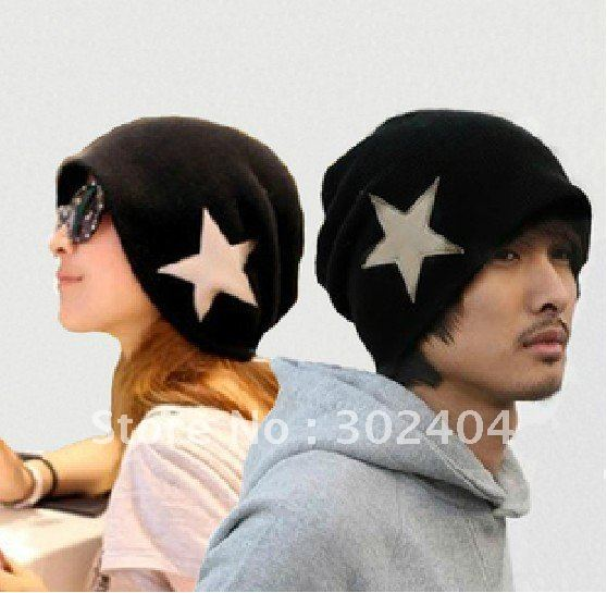 2012 Crochet Star Beanie Hat Skull Cap hip-hop hat Winter Knitted Hat(China (Mainland))