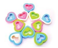 Free Shipping 10pcs/lot The love heart Sandwich Mold Sandwich Maker Bread Mold DIY Mould Cute