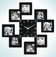 Photo wall clock for baby room fashion wall clock for bed room 45x45cm free shipping NZ02