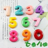 Ultra Q color digital fridge magnet  Fashion jelly color fridge magnet Creative resin magnets Christmas gifts  5pcs /lot